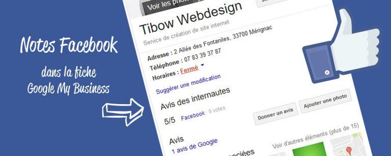 Ajouter les notes et avis Facebook à Google My Business