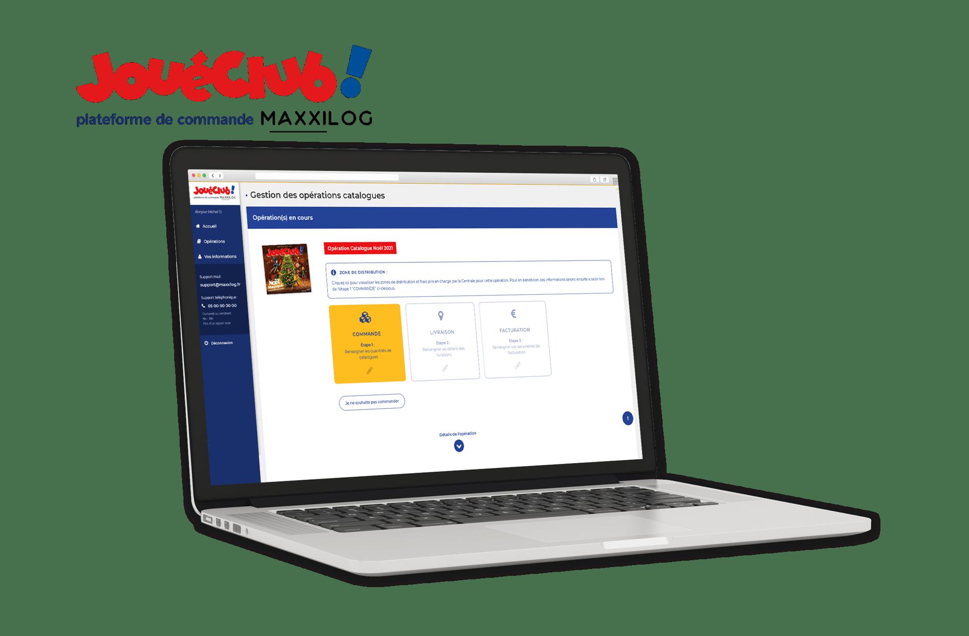 Plateforme web Maxxilog pour JouéClub