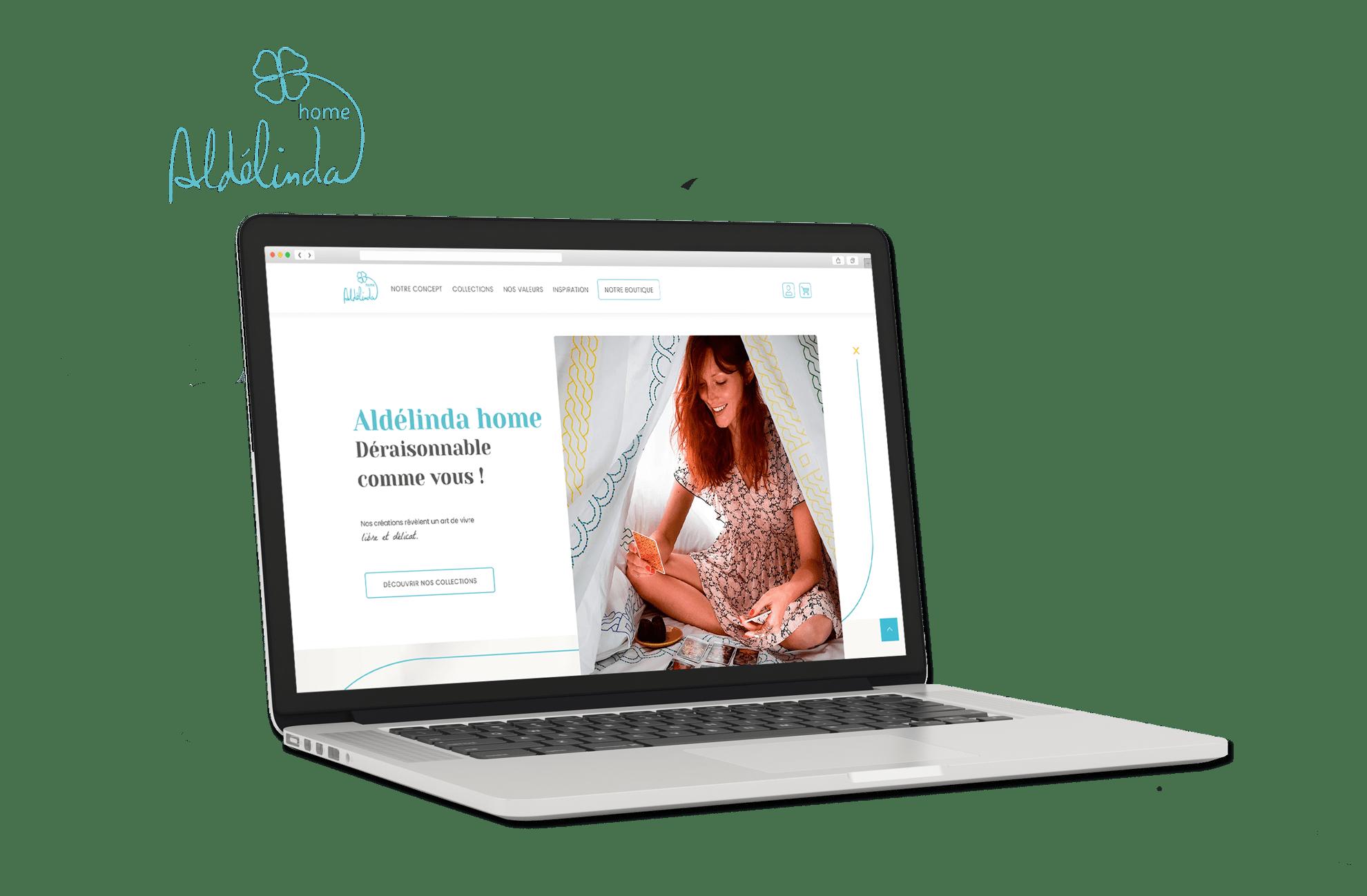 Site Internet Aldélinda Home sur Shopify