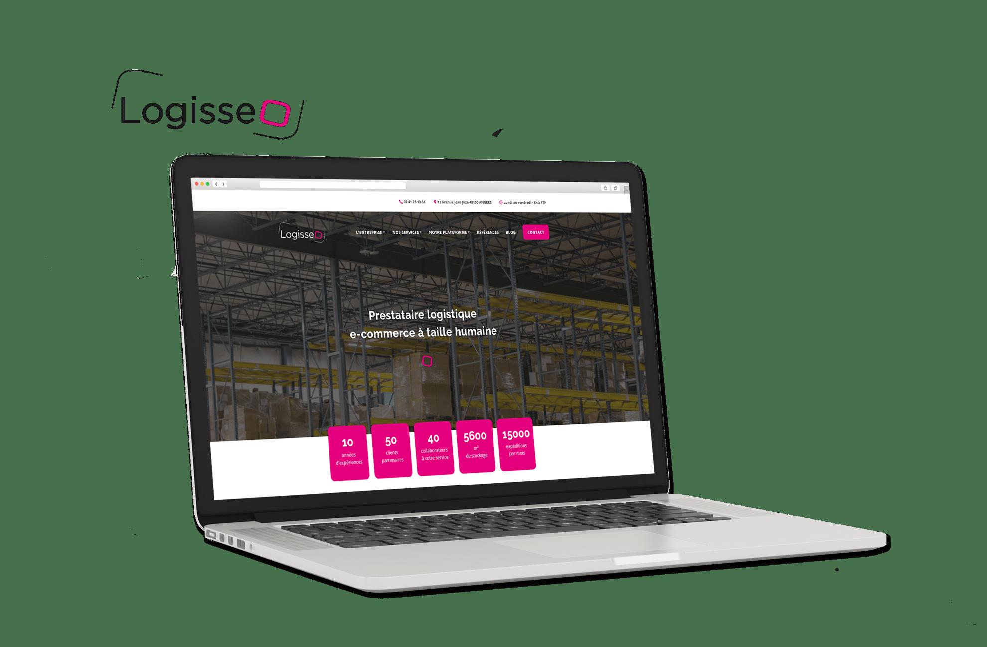 Site internet Logisseo logistique e-commerce à Angers